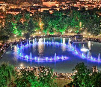 пеещите фонтани в гр.Пловдив